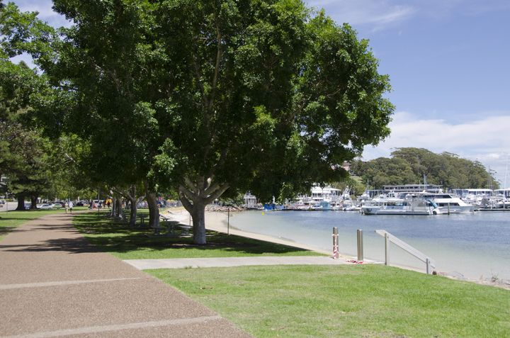 Nelson Bay Foreshore, Nelson Bay, Port Stephens. You can take a relaxing walk from the Foreshore right up to Fly Point where you will witness some stunning scenery.