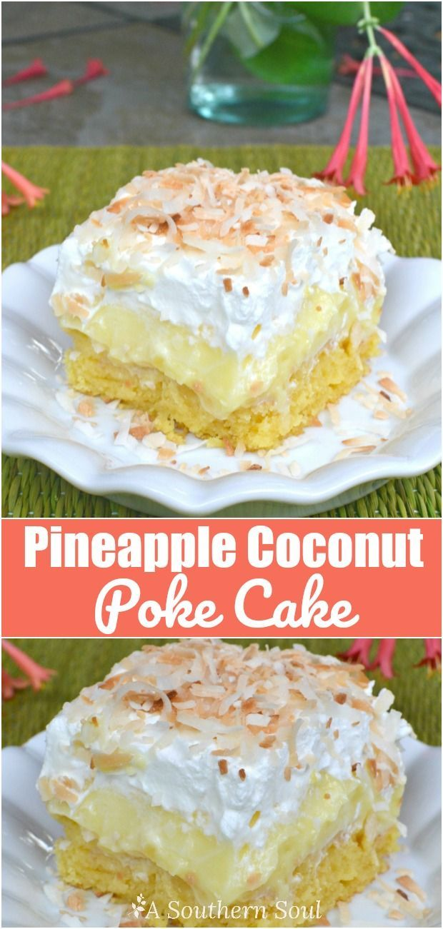 Luscious cake with tropical flavors of pineapple & coconut is cool and easy to make.