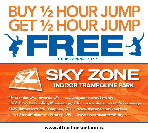 Trampoline Park Coupons