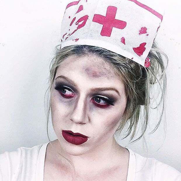 23 Creative And Easy Halloween Makeup Ideas Zombie