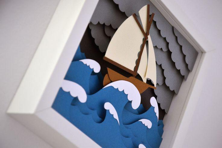 Sea papercut illustrations on Behance