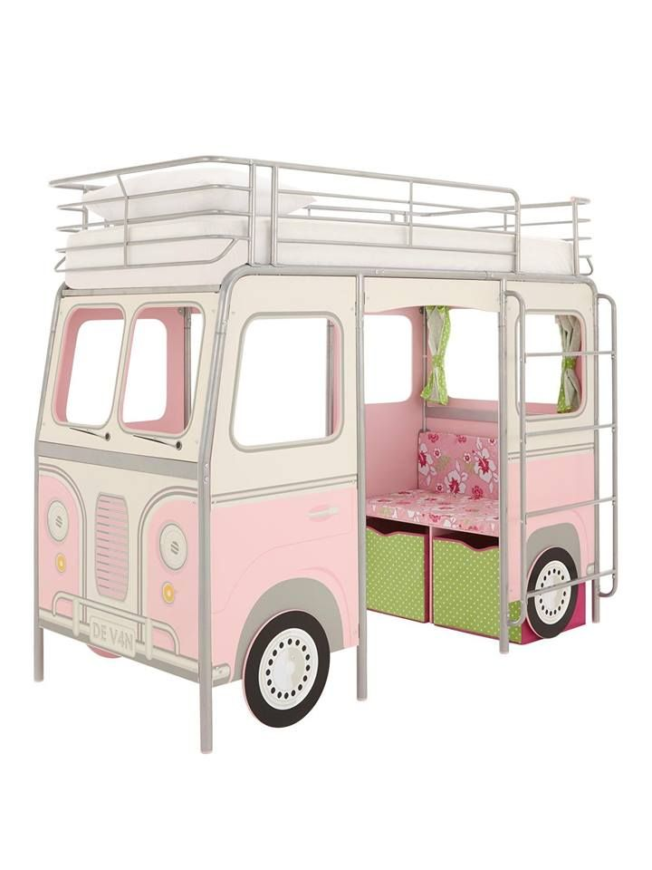 Camper Van Mid Sleeper Bed with Desk, Seat and Storage! Kids will love it.