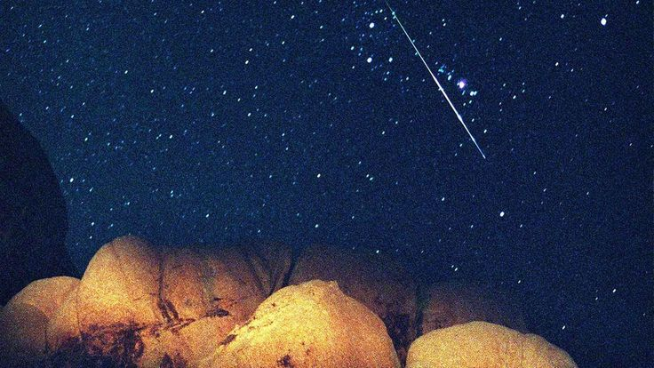 perseid meteor shower 2014 and super moon image
