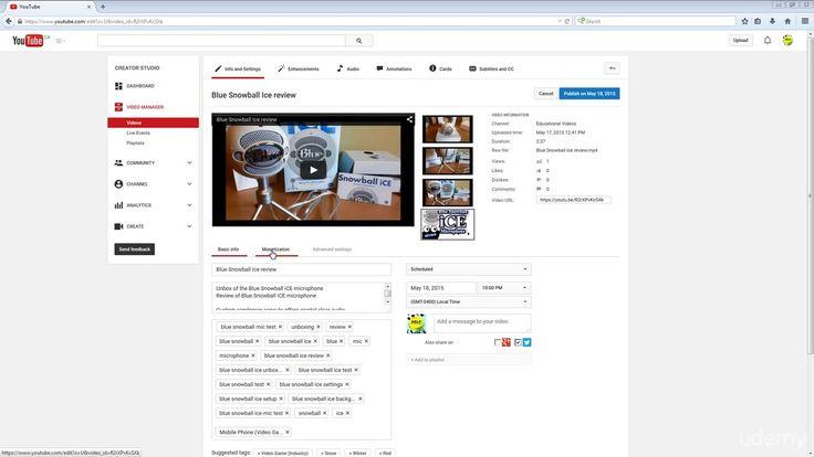 Advantages of Monetization add thumbnail schedule videos