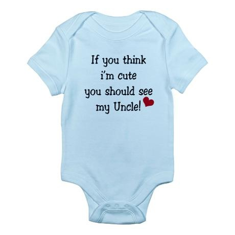 Cute Uncle! Infant Bodysuit @Alicia Galvan