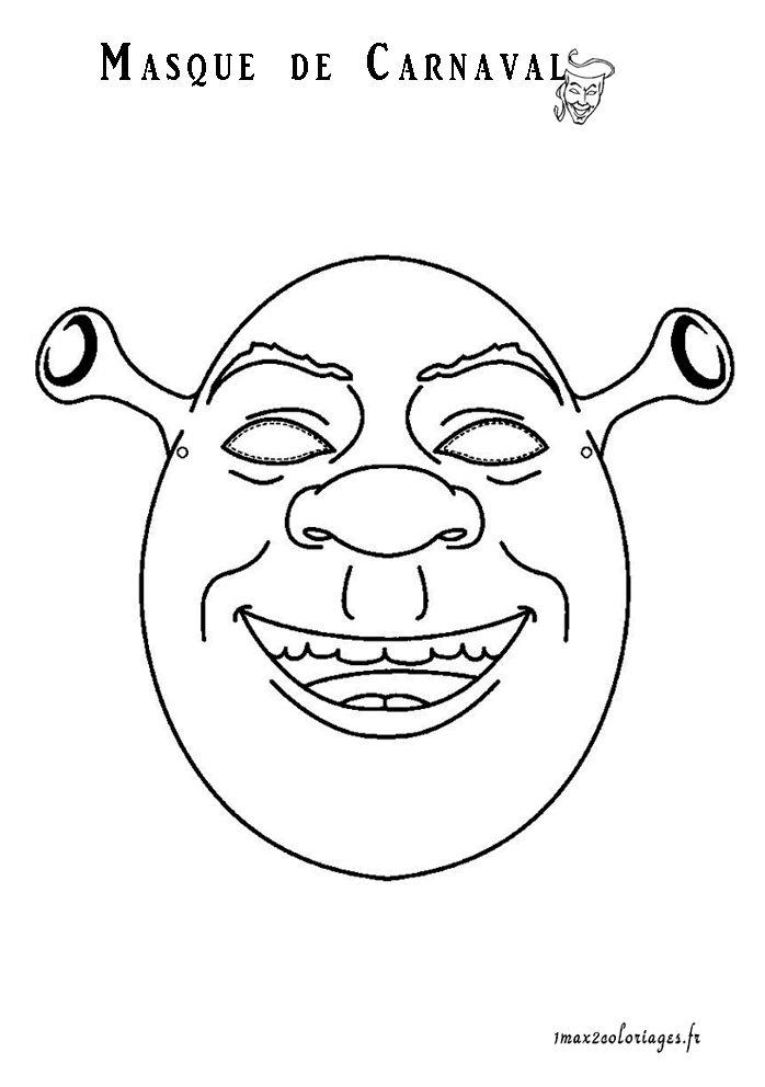 Masque de Shrek pour Carnaval