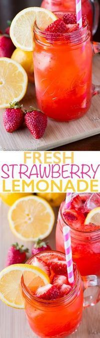Fresh Strawberry Lemonade - Recipes - Cooking Tip Of The Day