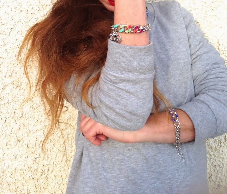 #jewels #bijoux #purple #liliac #girl #fashion #style #rock #fashion #people #milan #tattoo #fashionblogger #style @Telli Collection Milano  #necklace #bracelet #bijoux anallergici - Rainbow Bracelet - Peace & Love in un gioiello a colori, telli collection Simonetta Granatelli , Amanda Marzolini, the...