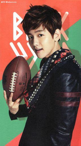 HQ [scans] EXO's 2014 Official calendar - Baekhyun