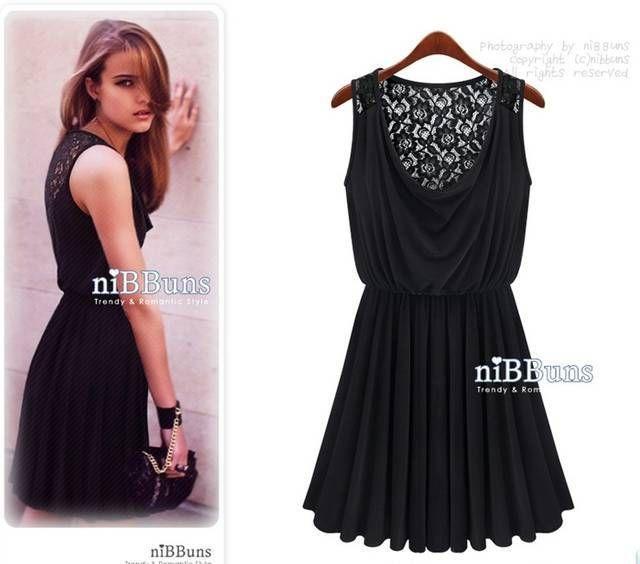 N47 ücretsiz kargo 2014 yeni moda mini kısa dantel siyah pilili euro elbiseler artı boyutu parti akşam önlük elbise