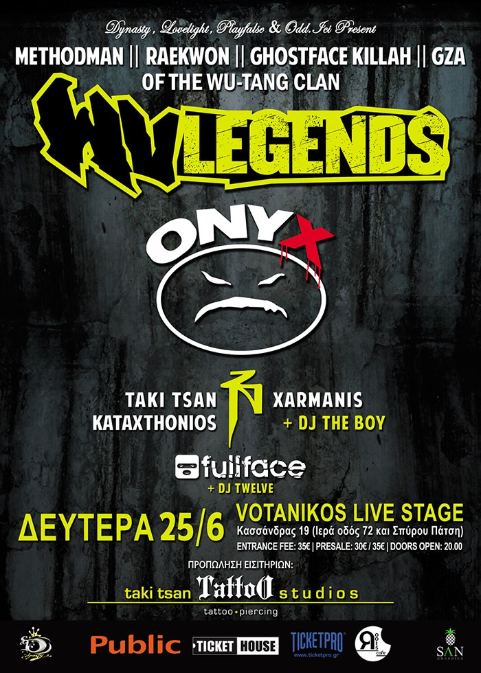 Wu Tang Legends + Onyx Live Athens