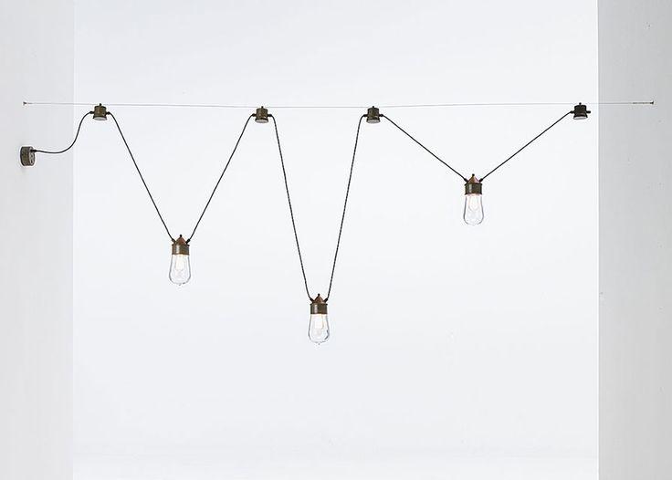 Il Fanale   Drop   Lampade a sospensione in ottone, rame e vetro da interno e esterno