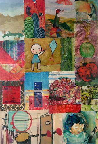 collage niña