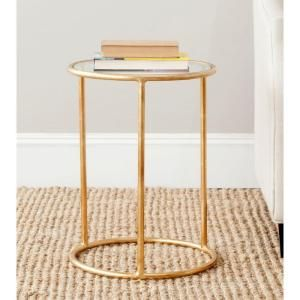 Safavieh Shay Gold Accent Table-FOX2523B - The Home Depot