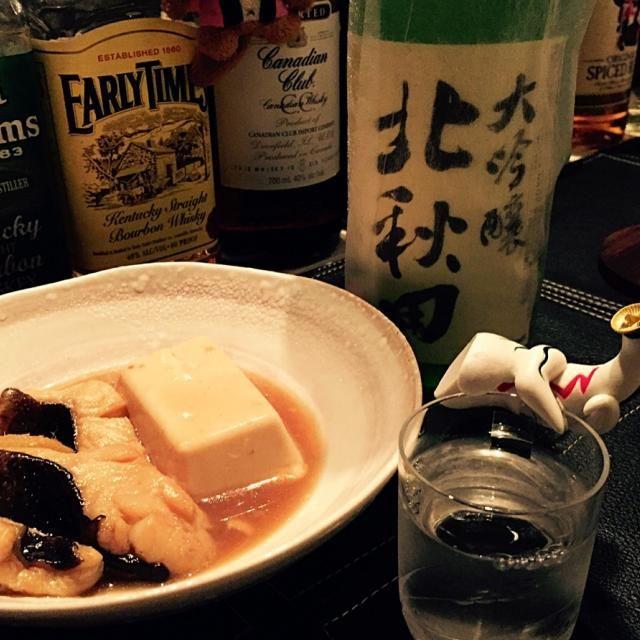 ばばあとは鳥取名産の深海魚。 別にうちのオカンが煮物焚いたわけやないです。  味はタンパクで穴子に似てるかなぁ 冬なら鍋にもいけそうやね。  あー。そして今夜も日本酒が美味い(≧∇≦) - 35件のもぐもぐ - ばばあの煮付と北秋田 by lovepochiko
