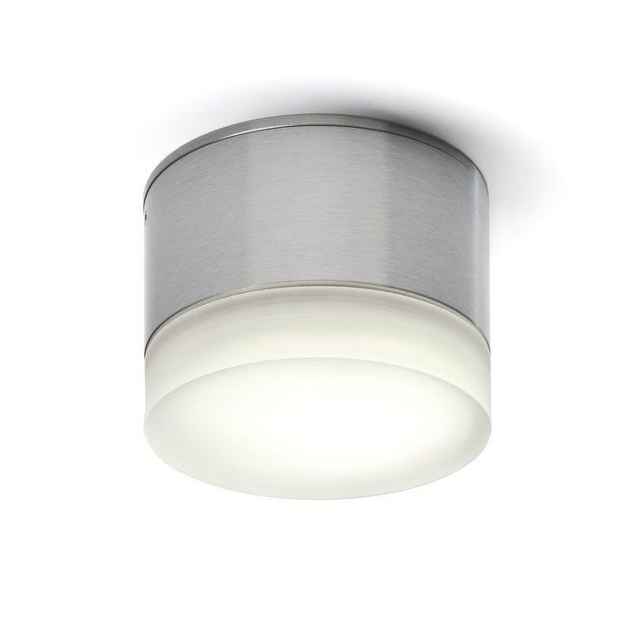 MARC - Okrúhle svietidlo pre Microlynx so satinovaným tienidlom s hliníkovou základňou.