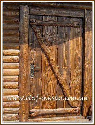 Массивная деревянная дверь своими руками