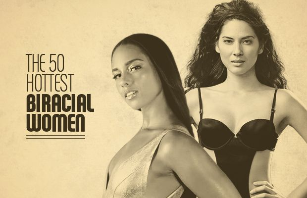 Probably my most favorite countdown gallery list yet -- The 50 Hottest Biracial Women