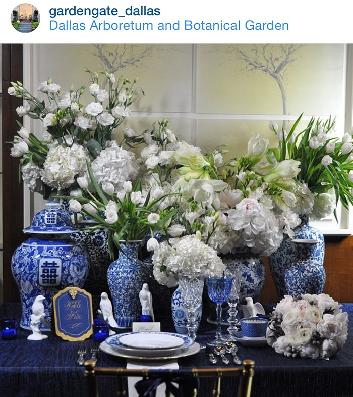 Beautiful Blue and White Tablescape, The Pink Pagoda: Blue and White Monday + News