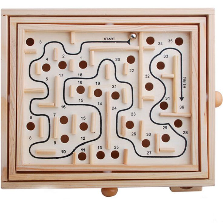 Mini Wooden Labyrinth Board Game Ball In maze Puzzle Handcrafted Toys kids Educational Toys for children and adult gifts #Affiliate