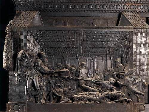 DONATELLO El Martirio de San Lorenzo  1460/65  Bronce  San Lorenzo, Florencia