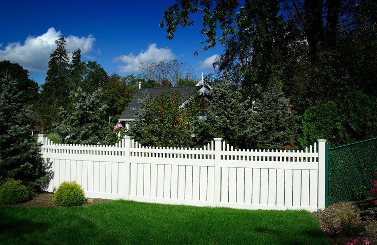 illusions pvc vinyl semi privacy style white fencing panels
