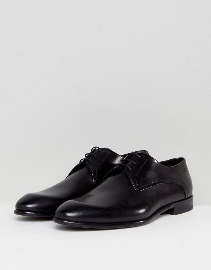 HUGO by Hugo Boss C-Dresios Lace Up Calf Leather Derby Shoes in Black