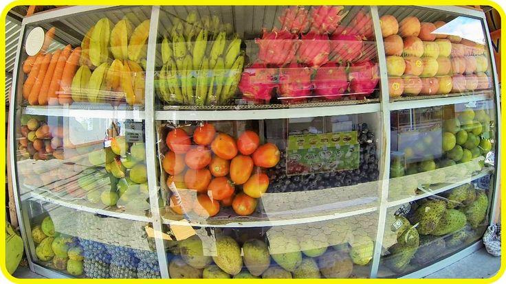 Фруктовый рынок - дешево и вкусно Night Market | Индонезия, Бали [1080p]