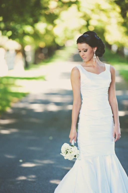 Gorgeous bride, wedding hair by | Carrie Purser Makeup and Hair Artistry