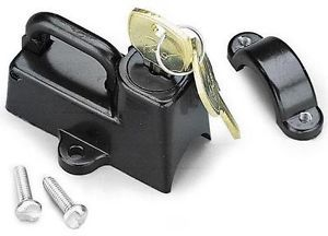 "Motion Pro Universal 7 8"" Black Motorcycle Helmet Lock New 11 0006 
