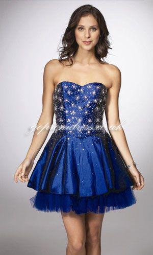Short Navy Blue Dress For Prom