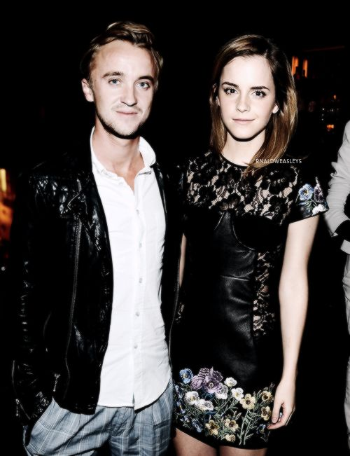 Tom Felton and Emma Watson would make such a cute couple.