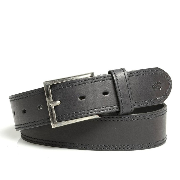 Camel Active Men's Leather Belt with Embossed Metal Badge £29.99