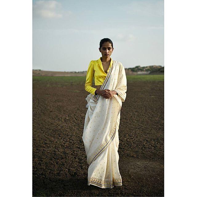 Sanjay Garg Festive 2016. Featured: 'Kanak' blouse, 'Malhar' sari #newcollection…