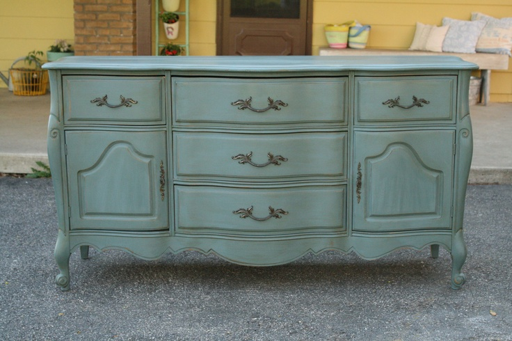 French Sideboard Antiqued with Briwax Golden Oak - I want a French Sideboard turned vanity in my master bath