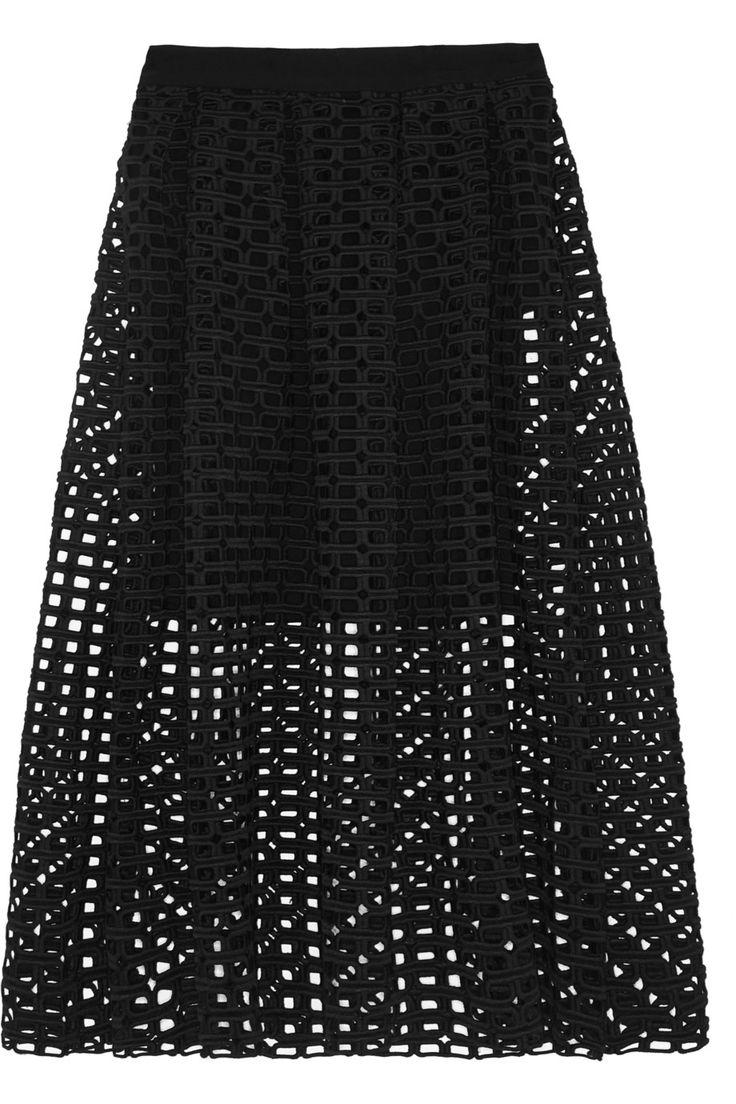 Maje|Jolane guipure lace skirt|NET-A-PORTER.COM
