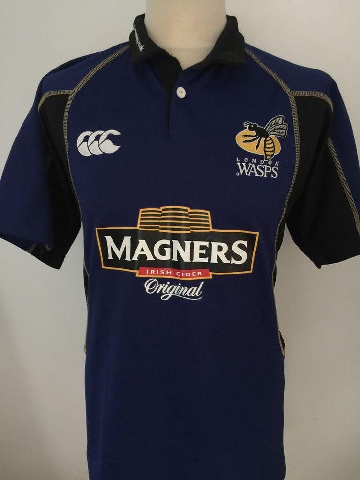 LONDON WASPS Rugby Shirt Jersey Men's Size M MEDIUM  | eBay