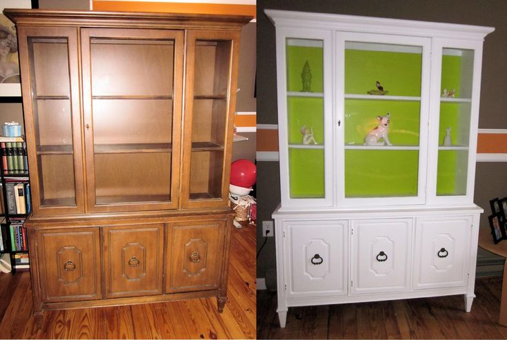 Painted China Cabinets Before And After