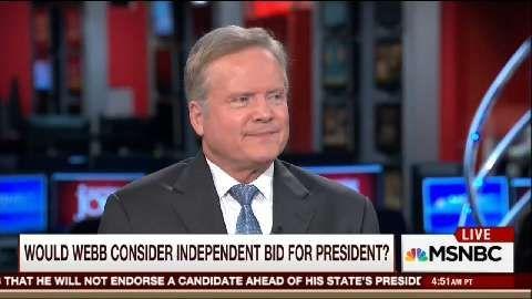 Jim Webb: I won't vote for Clinton, but I may for Trump  Read more: http://www.politico.com/story/2016/03/jim-webb-no-hillary-clinton-220255#ixzz41xiTHWSg