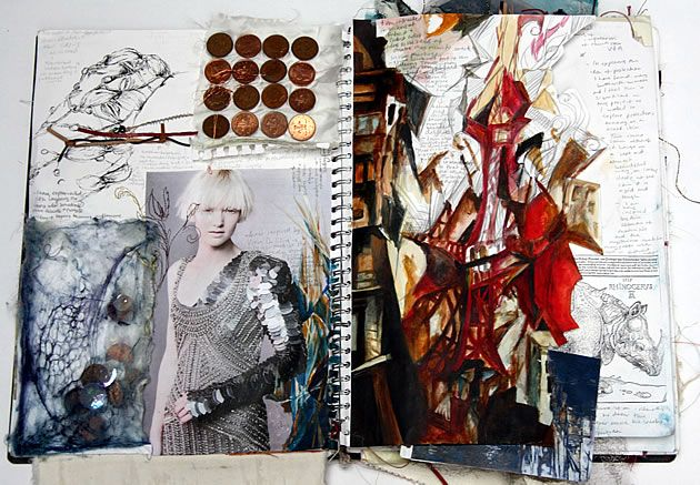 fashion design sketchbook by Halima