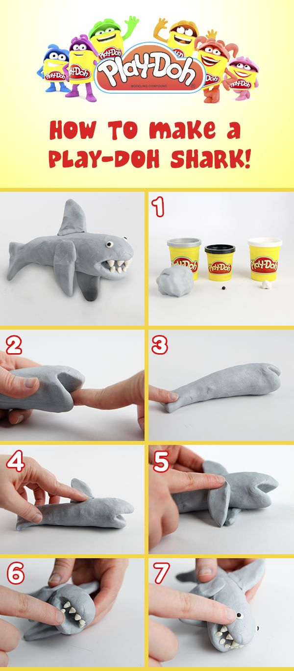 comment faire un requin avec de la Play-Doh! / how to make a Play-Doh shark!