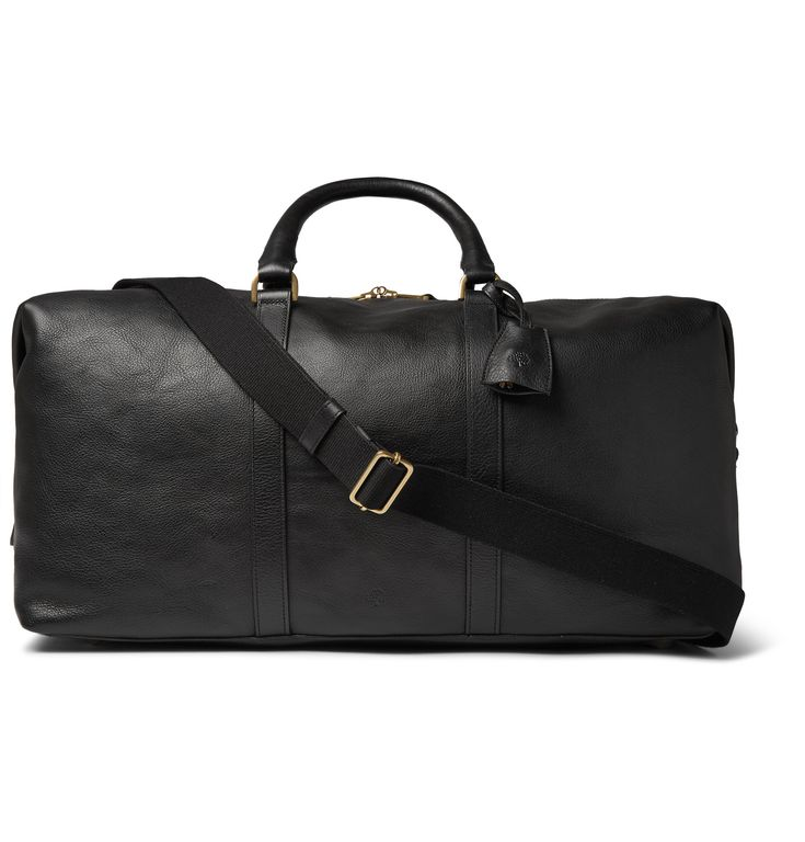 One of <a href='http://www.mrporter.com/Shop/Designers/Mulberry'>Mulberry</a>'s most popular styles, this version of the 'Clipper' holdall comes in black vegetable-tanned leather for a classic look. The capacious interior and detachable shoulder strap makes it a smart travel companion on weekends away.