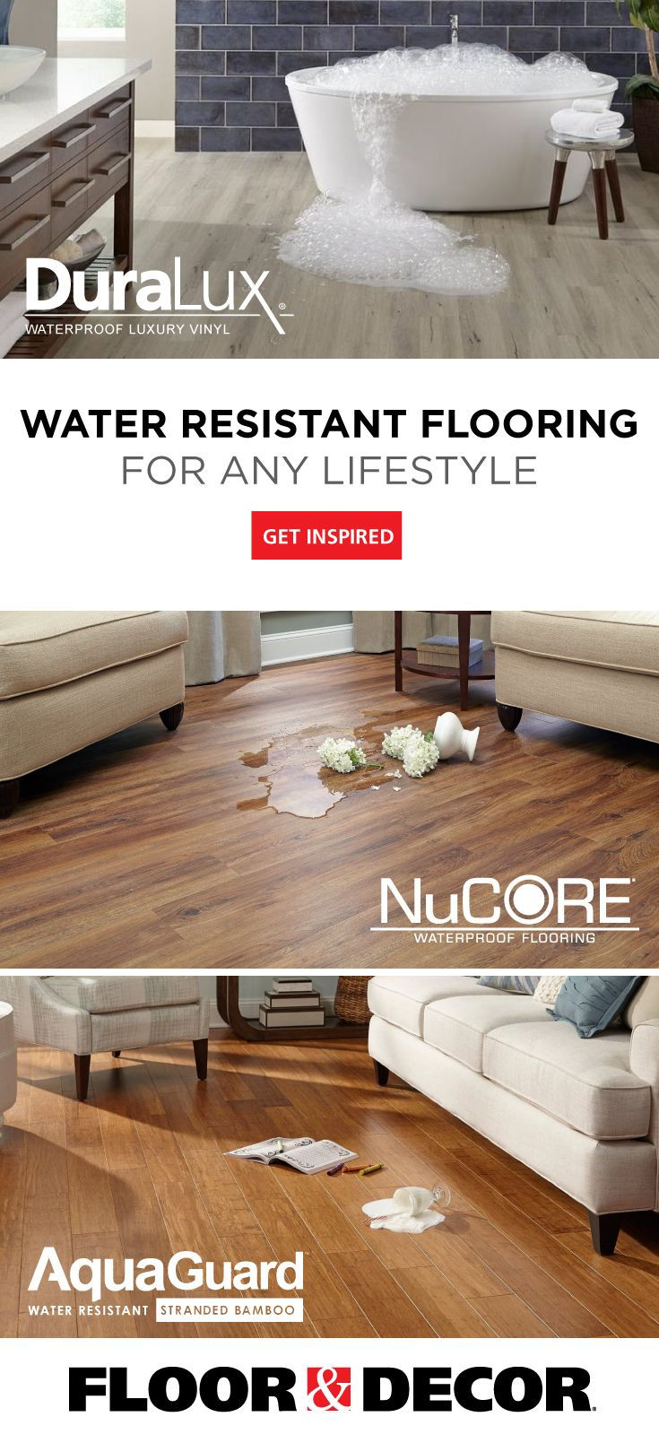Embrace The Spill With Water Resistant Flooring Home Decor Water Resistant Flooring Log Home Decorating