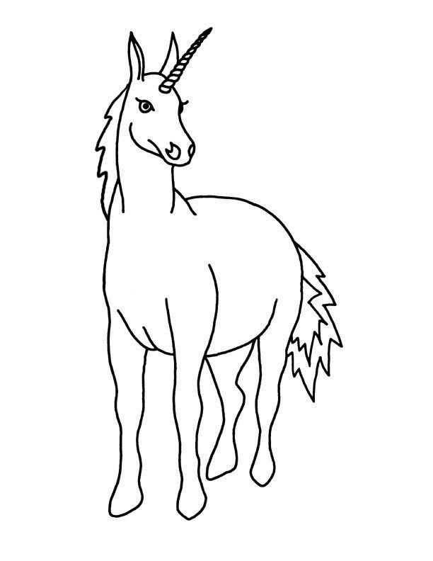 print eenhoorn kleurplaat kleurplaten eenhoorn paarden