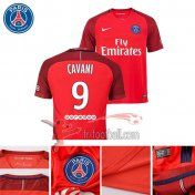 Fr-Football: Paris PSG 2016-2017 Saison Flocage Maillot De Foot Cavani 9 Exterieur Rouge |Thai Edition