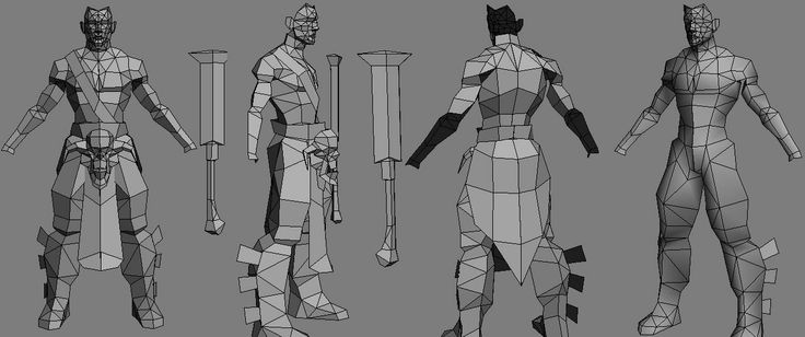 Another barbarian WIP - low poly - - Polycount Forum