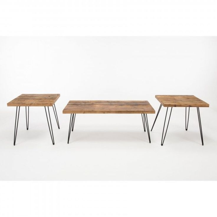 Coffee Table And End Table Set Living room Furniture Bohemian Mid-Century 3 PC #Tables #Modern #DanAnnStore