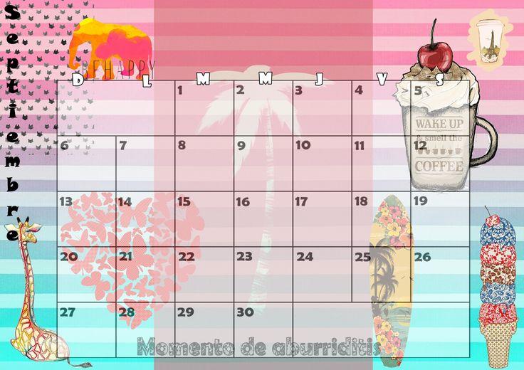 Calendario mensual 2015 - Septiembre
