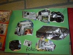 Collage van fototoestellen