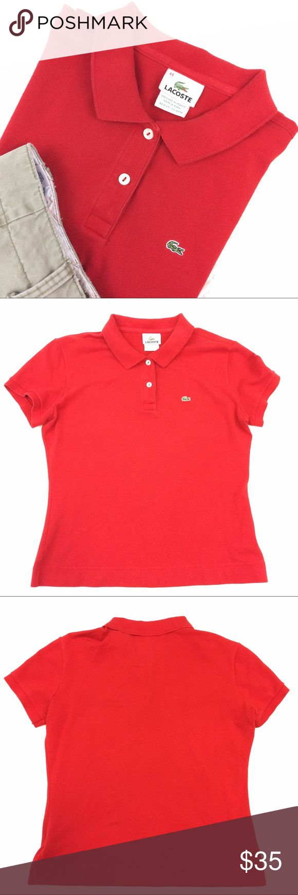 Lacoste Polo Shirt This is a red Lacoste polo shirt. It is in awesome used condition. Sz 44 Lacoste Shirts Polos